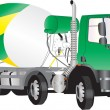 Stock Vector: Concrete Mixer Truck