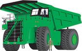 Green Dumper Truck — Stock Vector