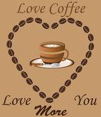 Love Coffee — Stock Vector