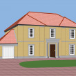 Detached House — Imagen vectorial