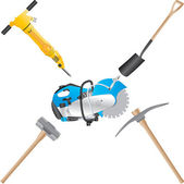 Bouwers tools — Stockvector