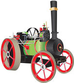 Traction Engine — Stock Vector