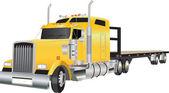 Articulated Truck — Stock Vector