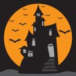 Stock Vector: Haunted House
