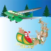 Air Santa — Stock Vector