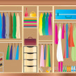 Fitted Wardrobe — Stock Vector