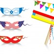 Birthday international decorative elements - Image vectorielle