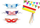 Birthday international decorative elements — Stock Vector
