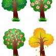 Nature vector elements four seasons tree — Stock Vector