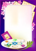 Jewish celebrate pesach passover with eggs — Vector de stock