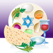 Jewish celebrate pesach passover with eggs — Stock Vector #21838987