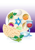 Jewish celebrate pesach passover with eggs — Stock Vector