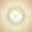 Wedding or sweet frame with pearls petals and lace — Stock Vector #12702001
