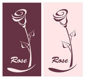 Rose for logotype something or style post card — Stock Vector