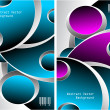 Royalty-Free Stock 矢量图片: Two blue magenta grey Abstract backgrounds