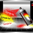 Concept Aerosol spray painter — Vettoriali Stock