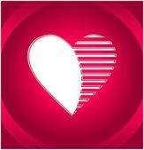 Tlačítko kreativní srdce — Stock vektor