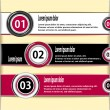 Set modern banners or template of infographics — Stock Vector
