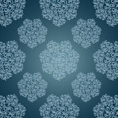 Seamless patterns with lace flowers in Victorian style — Stock Vector