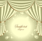 Background with light olive drapes — Wektor stockowy