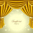Stock Vector: Background with gold drapes