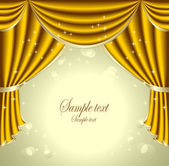 Background with gold drapes — Stock Vector