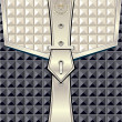 Background with geometric seamless pattern belt fastener — Vecteur #27103231