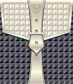 幾何学的なシームレス パターン ベルト ファスナーと背景 — ストックベクタ