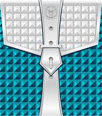 Pozadí s upevňovací pás geometrický vzor bezešvé — Stock vektor