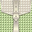 Stockvektor : Background with geometric seamless pattern belt fastener