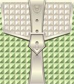 Achtergrond met geometrische naadloze patroon gordel bevestiger — Stockvector