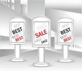 Sjabloon licht dozen of concept beste koop — Stockvector