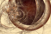 Abstract fractal background in beige brown coffee colors — Stock Photo