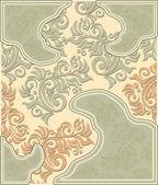 Decorative floral background in pastel colors — Stok Vektör