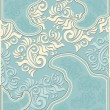 Decorative floral background in pastel blue colors — Vetorial Stock