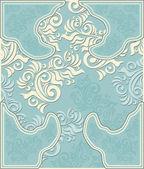 декоративный цветочный фон в пастельных синего цвета — Cтоковый вектор