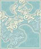 Decorative floral background in pastel blue colors — Stok Vektör