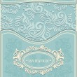 Invitation or Frame in Decorative floral background in pastel blue colors — Vetorial Stock