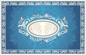 Invitation or frame with Floral background — Stock Vector