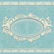 Invitation or frame or label with Floral background in blue — Stock Vector