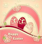 Paper Easter Eggs pink vanilla — Stockvektor