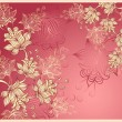 Background with abstract flowers on pink — Stock Vector