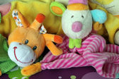 Colorful children's plush toys — Stock Photo