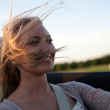 Joy of driving cabriolet — Stock Photo