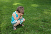 Little boy crying — Stockfoto