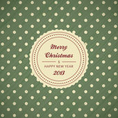 Vintage christmas card background — Stock Vector