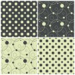 Seamless patterns with polka dots and circles, vector illustration — Stock Vector #22454777