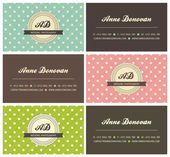 Retro business cards — Stock Vector