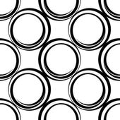 Seamless pattern with circles, vector illustration — Vecteur