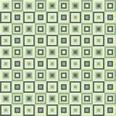 正方形とのシームレスなレトロ パターン — ストックベクタ
